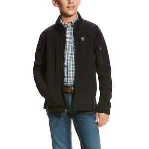 Ariat® Boy's Vernon 2.0 Black Stretch Softshell Jacket 10024057