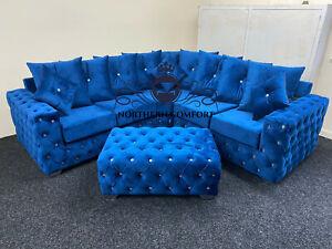 Ashton Chesterfield Corner Sofa in Plush Velvet