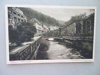 Ansichtskarte Wildbad Schwarzwald Frinkhalle mit Olgastrasse