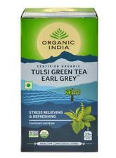 ORGANIC INDIA Green Earl Grey 25 Tea Bags