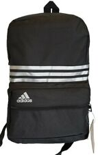 Original Adidas 3-Stripes Backpack Rucksack Gym/Sports/School Bag Black Free P&P