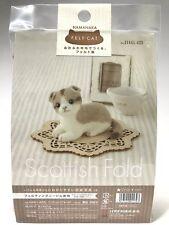 Needle Felting Kit Cat Japan Wool Felt Craft Scottish Fold Hamanaka F/S