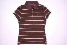 Tommy Hilfiger Braun Damen Poloshirt T-Shirt Größe S