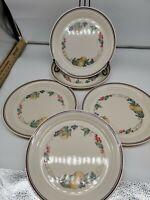 Corelle Abundance Dinner Plates Indented Rim Fruit Peaches ~ Set of 5