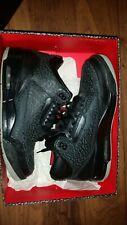 Used jordan 3 black flip size 10