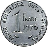 Französisch Westafrika - Münze - 1 Franc 1976