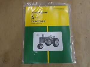 John Deere Styled A Series Operator's Manual (s.n. 648000 and up)