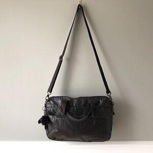 Kipling Messenger Bag Black Canvas Satchel Zip Up Laptop Crossbody Monkey