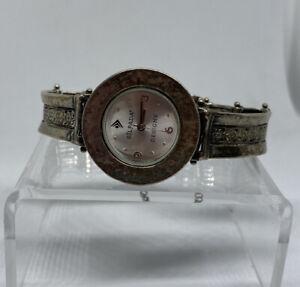 Silpada Designs Sterling Silver Quartz Movement Watch Runs