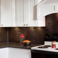 Kitchen Backsplash Decorative Vinyl Panel Wall Tiles Bath Bathroom Metal Pewter