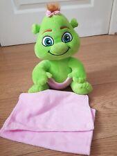 """Shrek Baby Ogre Girl Plush Soft Toy Dreamworks Shrek's Adventure 10"""" & blanket"""