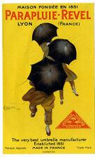 Affichette Ancienne PARAPLUIES REVEL par Cappiello 1922 (original)