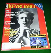 1986 KEYBOARD Magazine w- Soundpage IVO POGORELICH, Oberheim Xpander, Casio RZ-1