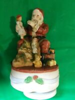 Santa Claus Musical Porcelain Hand Painted Santa Claus Plays Silent Night
