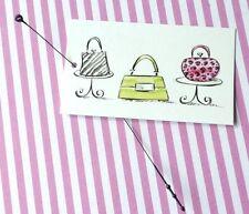 100 Fashion Tags Accessories Tags Cute Green Pink Handbags Tags Plastic Loops
