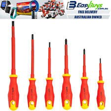 MPT Insulated Electrician Screwdriver Set PRO 6pc 1000V VDE Wiha Style Slimfix