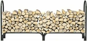 Regal Flame 8 ft Heavy Duty Firewood Shelter Log Rack for Fireplaces and Fire...