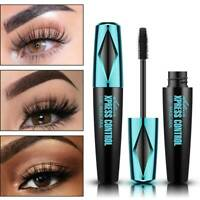 UK Black 4D Silk Fibre Mascara Eyelash Waterproof Extension Volume Long Lasting