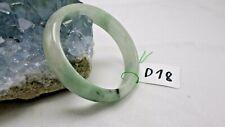 Translucent Natural Jade Jadeite Green  57.6 MM Bangle Bracelet   d18