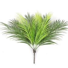 9 Kopf Künstlich Farn Bukett Palm Leaves Grün Plastik Pflanzen Heim Party Dekor