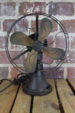 Antique GE Nickel Coin Operated Electric Hotel Taxi Fan Brass Blades WORKS!