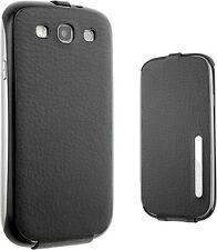 Samsung Black Leather Flip Case for Galaxy S3 By Anymode SAMGSVLFC