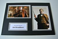 Jim Broadbent Signed Autograph A4 photo mount display Harry Potter Film & COA