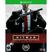 XBOX ONE - HITMAN: DEFINITIVE EDITION BRAND NEW FACTORY SEALED Video Game