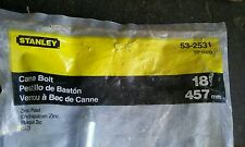 """New Stanley 18"""" Steel Cane Bolt Shed or Gate Lock Vertical or Horizontal 53-2531"""