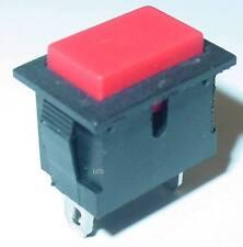 Taster Klingeltaster rechteckig rote taste unbeleuchtet 250v/6a S136