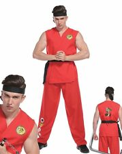 Adult Mens Street Fighter Costume Karate Kid Ryu Fighter Fancy Dress Ken Manga