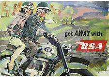 1960's BSA motorcycles poster