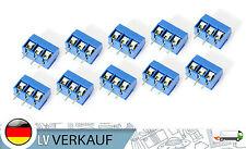 10Stk 3P Schraub-Terminal 5mm-Raster blau para Arduino