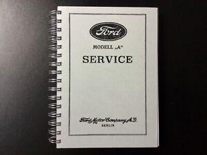 Werkstatthandbuch Ford Model A 1928-31 deutsch