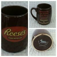 HERSHEYS Reese's PEANUT BUTTER CUPS Coffee Mug Brown Orange Yellow Lettering