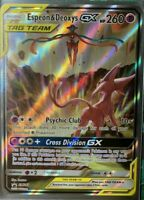 FULL ART Espeon & Deoxys GX ULTRA RARE Tag Team SM240 Holo Foil Promo Pokemon LP
