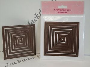 7 Piece Quality Cutting/Embossing Nesting Die Set Squares - 58424