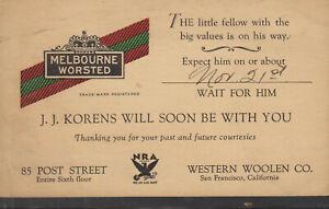 UX27 ADVERTISING MELBOURNE SAN FRANCISCO SALESMAN R.P.O. PORT&DUNSMUIR 11/6/1935