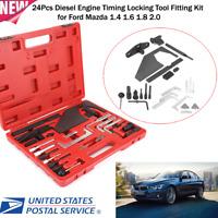 24PC Diesel Engine Timing Locking Tool Kit Set for Ford Mazda 1.4 1.6 1.8 2.0 US