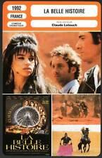 LA BELLE HISTOIRE - Lanvin,Dalle,Lelouch (Fiche Cinéma)1992  The Beautiful Story