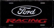 FORD RACING METAL LICENSE PLATE BLACK AUTO TAG L491