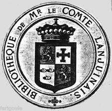 EX-LIBRIS de Jean-Denis de LANJUINAIS. Bretagne.