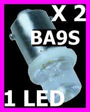 2 AMPOULES LAMPE VEILLEUSE LED CULOT FER BAYONNETTE BA9S 12V FEUX BLANC XENON