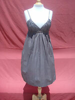 MNG Mango Brown with Golden Hue Cotton Spaghetti Strap Pocket Dress Sz M Turkey