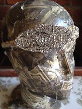 20's Deco Brooch Austrian crystal headband Vintage Gatsby downton Beaded