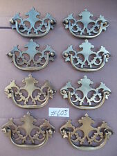"8 New Antique Well Hilite Brass Drawer Furniture/Cabinet Pulls 3 "" c-c"