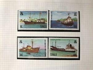 TUVALU 1978 MNH SHIPS TUG WALLACIA FREIGHTER CENPAC LAWEDUA PACIFIC EXPLORER