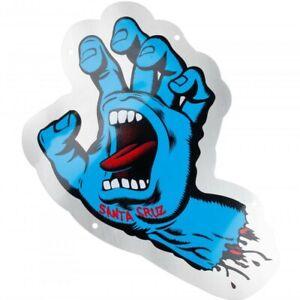 "SANTA CRUZ Screaming Hand Metal Shop Sign - Approx 15"" high x 11 5/8"""