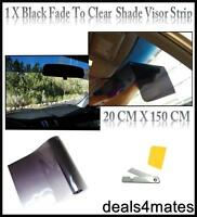 1400mm x 200mm  MATT BLACK WINDSCREEN SUNSTRIP  CAR  STICKERS DECALS JDM 001