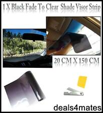Black Clear Sun Strip Fade Visor auto Windscreen Tinting Tint Film
